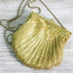 Vintage Carolyne Barton Gold Beaded Bag